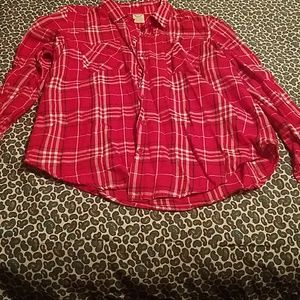 Small red flannel nwot